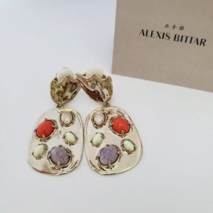 Alexis Bittar Sculptural Stone Cluster Earrings